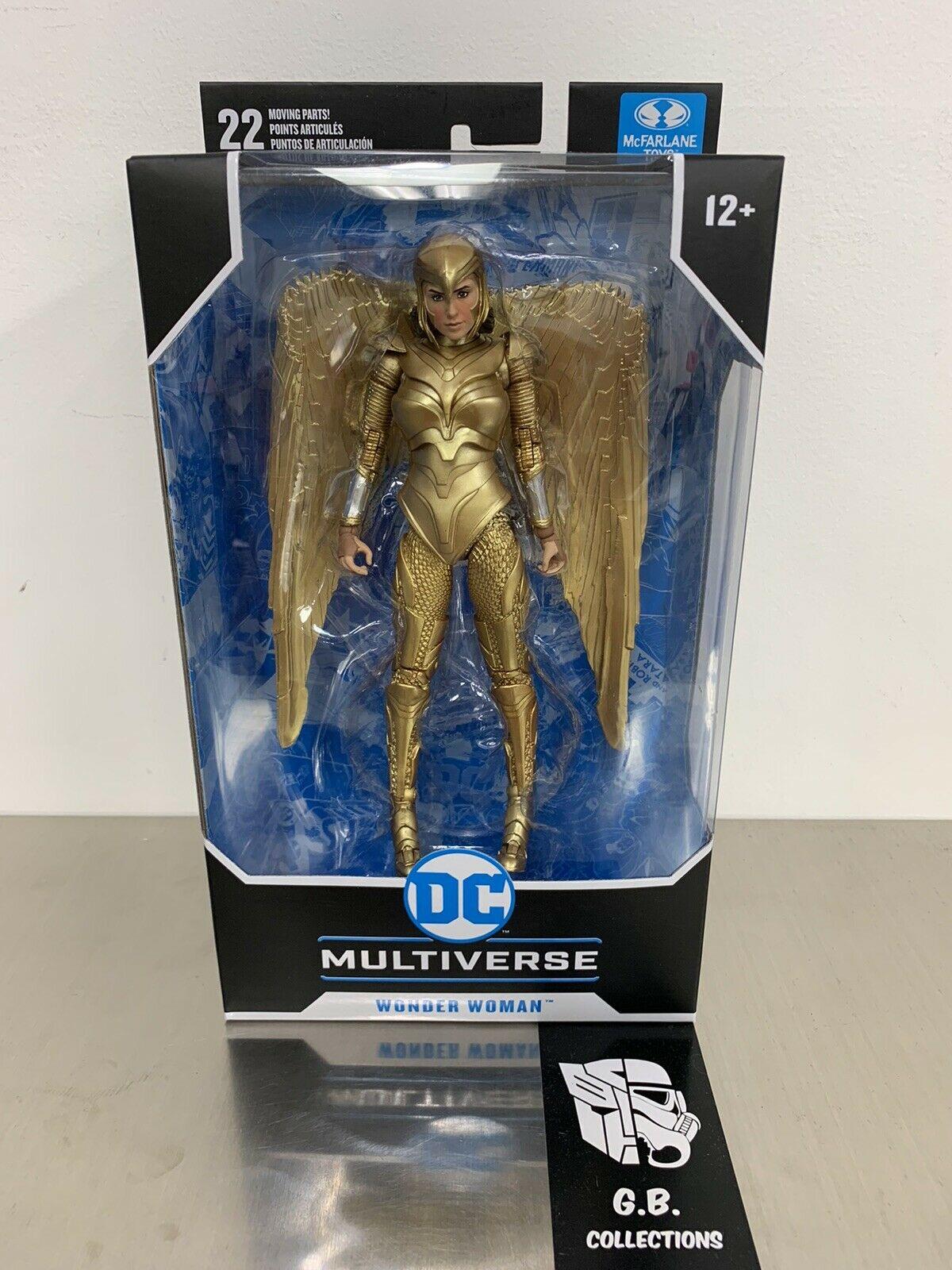 Dc Multi-Univers Mcfarlane Justice League Movie 1984 WONDER WOMAN GOLDEN Armor NEUF
